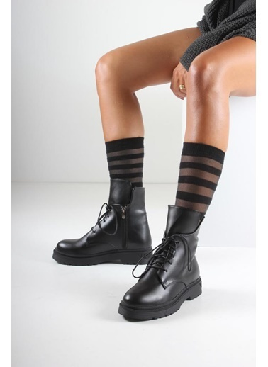İnan Ayakkabı BAYAN BOT Siyah